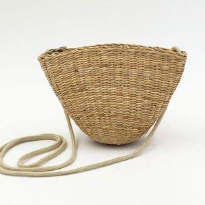 Wicker Raffia Straw Bag Summer Beach Crossbody Bag